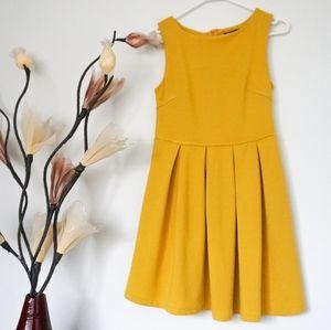 Chicabooti Mustard Yellow A Line Dress
